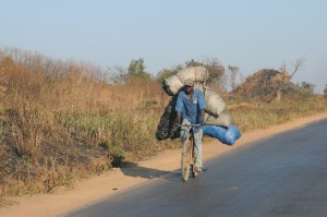 On highway south of Lubumbashi-2013