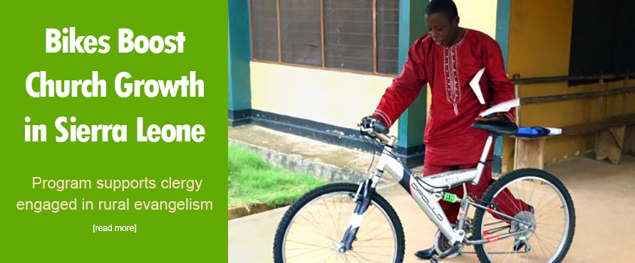 Bikes boost church growth in Sierra Leone